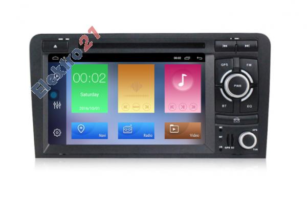 Audi A3 android s GPS offline navigáciou