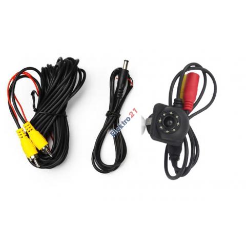 Cúvacia / Parkovacia kamera s LED prisvietením 12V