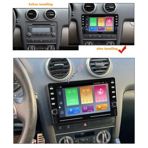 Audi A3 autorádio android 9 - offline GPS navigácia